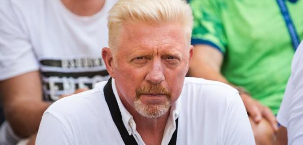 Boris Becker durante su etapa de entrenador de Djokovic