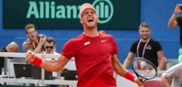 Borna Coric en Copa Davis. Foto: Getty Images