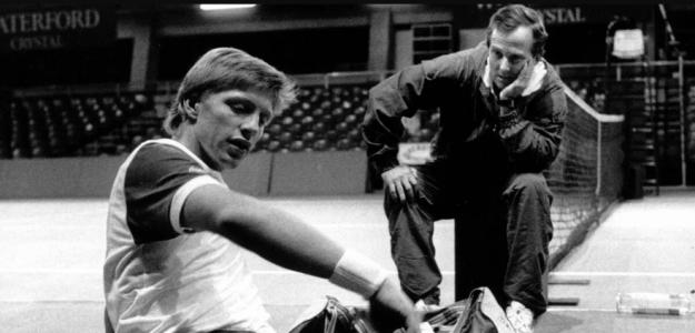 Bob Brett aconseja a Boris Becker, a quien llevó a la cima. Fuente: DEA24