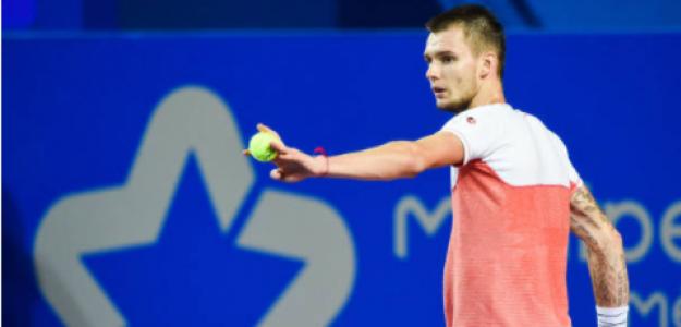 Alexandar Bublik en el torneo de Montpellier. Fuente: Getty