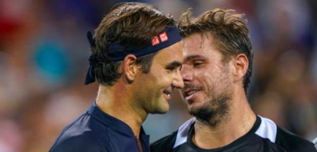 Roger Federer y Stan Wawrinka se enfrentaron en Cincinnati. Fuente: Getty