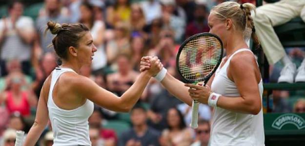 Halep y Bertens se vieron las caras hace dos años en Wimbledon. Fuente: Getty