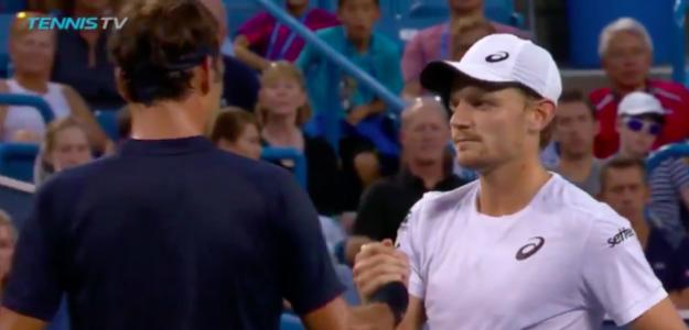 David Goffin tuvo que retirarse en semifinales de Cincinnati. Fuente: TennisTV