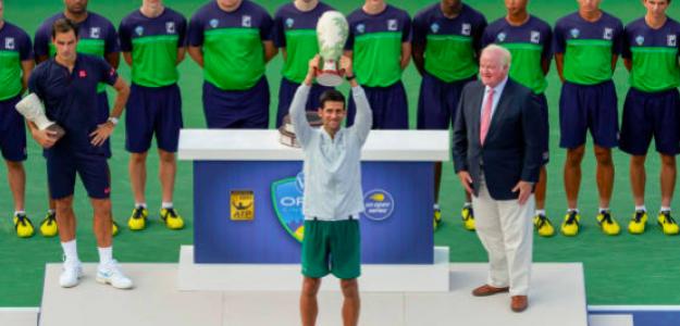 Novak Djokovic levanta el título en Cincinnati. Fuente: Getty