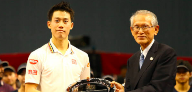Kei Nishikori, subcampeón en Tokyo. Fuente: Getty