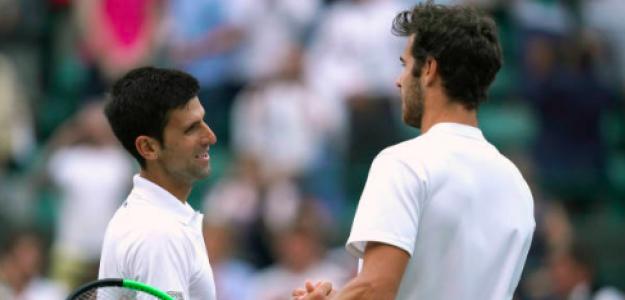 Djokovic y Khachanov en su único duelo en Wimbledon. Fuente: Getty