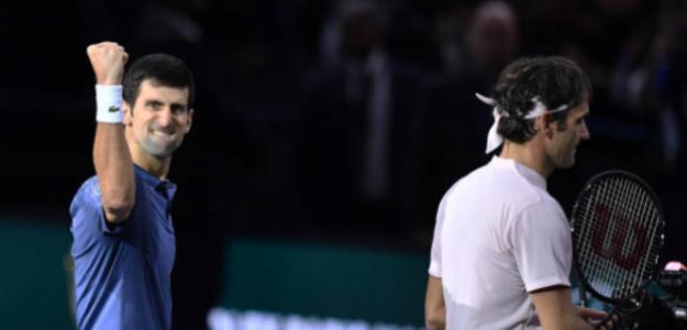 Novak Djokovic celebra su último triunfo sobre Roger Federer. Fuente: Getty