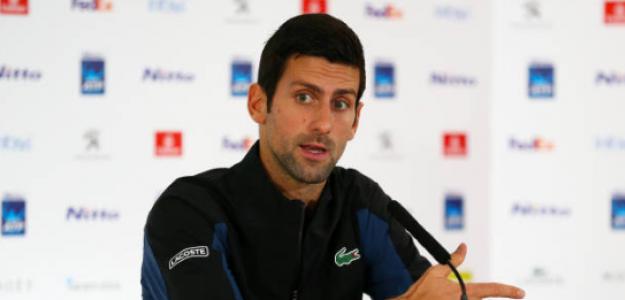 Novak Djokovic hablando en Londres. Fuente: Getty