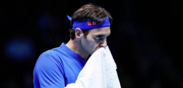 Roger Federer en su último partido del año. Fuente: Getty