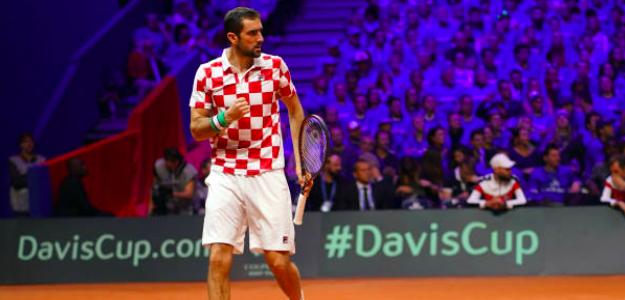 Marin Cilic, héroe croata en la conquista de la Copa Davis. Fuente: Getty