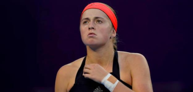 Jelena Ostapenko no tuvo su mejor temporada. Fuente: Getty