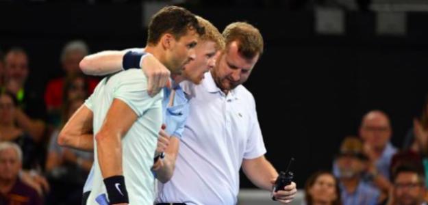 El gesto de Novak Djokovic con Kyle Edmund en Brisbane. Fuente: TennisTV