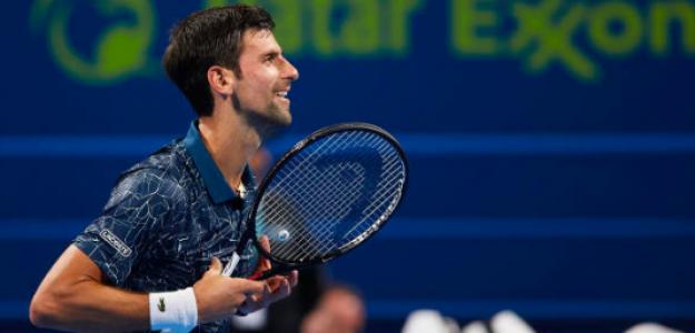 El saludo de Novak Djokovic al público de Doha. Fuente: Getty