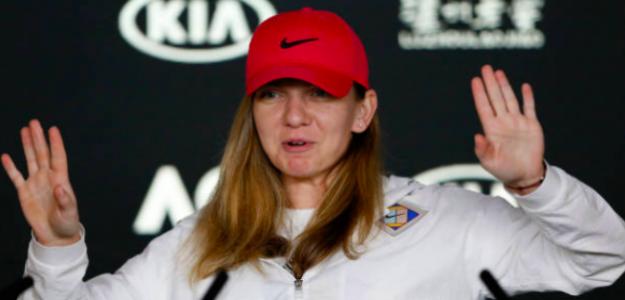 Simona Halep en rueda de prensa. Fuente: Aus Open