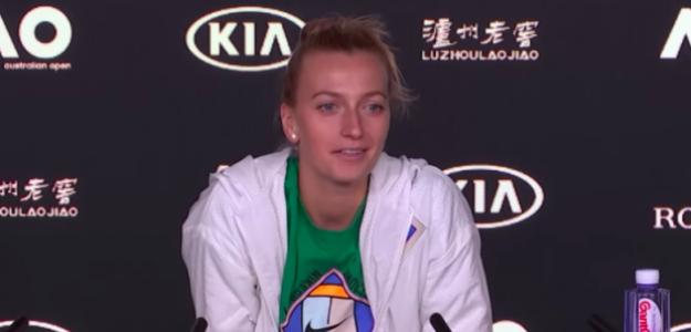 Petra Kvitova en rueda de prensa. Fuente: AusOpen