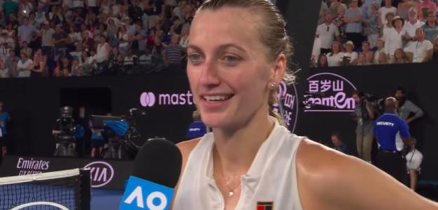Petra Kvitova tras pasar a la final. Fuente: AusOpen