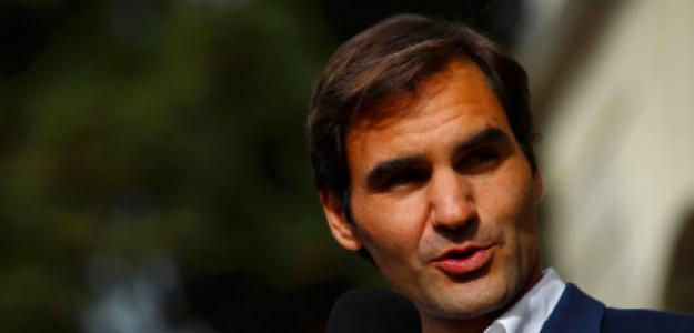 Roger Federer atendiendo a la prensa. Fuente: Getty