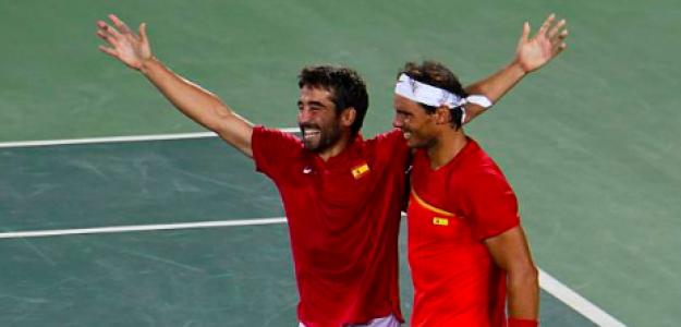 Marc López y Rafa Nadal en los Juegos Olímpicos. Fuente: Getty