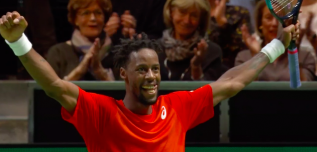 Gael Monfils celebra el título en Rotterdam. Fuente: TennisTV
