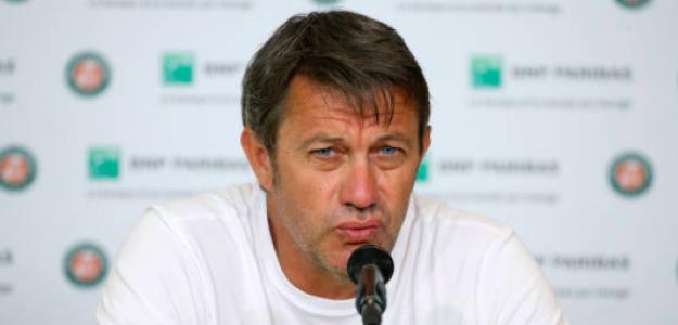 Thierry Van Cleemput en Roland Garros. Fuente: Getty