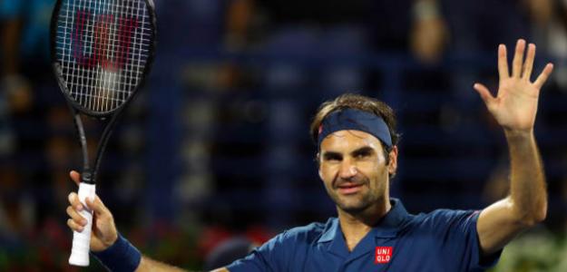 Roger Federer logra en Dubái los cien títulos como profesional. Fuente. Getty