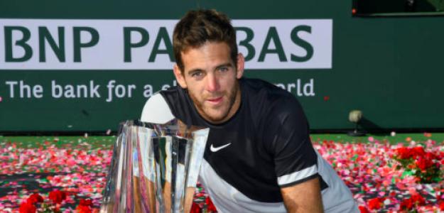 Del Potro es el último campeón de Indian Wells. Fuente: Getty