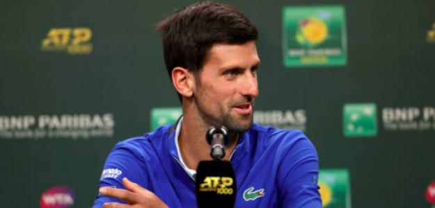 Novak Djokovic en rueda de prena. Fuente: Getty