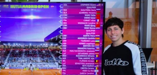 Carla Suárez tras el sorteo del cuadro del Mutua Madrid Open. Fuente: MMO
