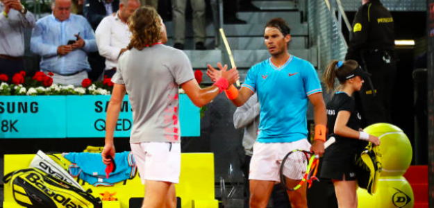 Stefanos Tsitsipas, verdugo de Rafa Nadal en Madrid. Fuente: Getty