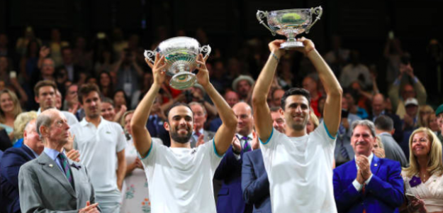 Los nuevos campeones de Wimbledon. Fuente: Getty