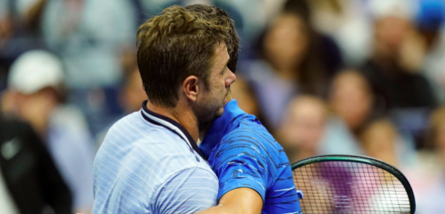 Stan Wawrinka y Novak Djokovic. Foto: ATP