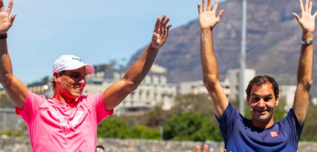 Rafael Nadal y Roger Federer. Foto: Getty