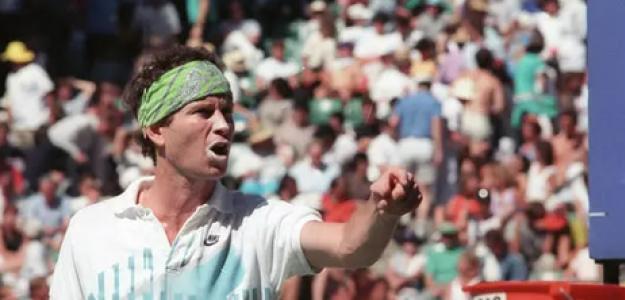 John McEnroe, descalificado en el Australian Open 1990. Foto: Getty