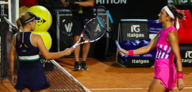 Sofia Kenin y Victoria Azarenka en Roma. Fuente: Getty