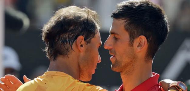 Rafael Nadal y Novak Djokovic. Foto: Getty