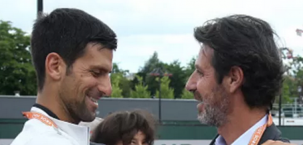 Novak Djokovic y Patrick Mouratoglou.