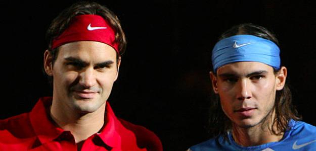 Roger Federer y Rafael Nadal. Fuente: Getty