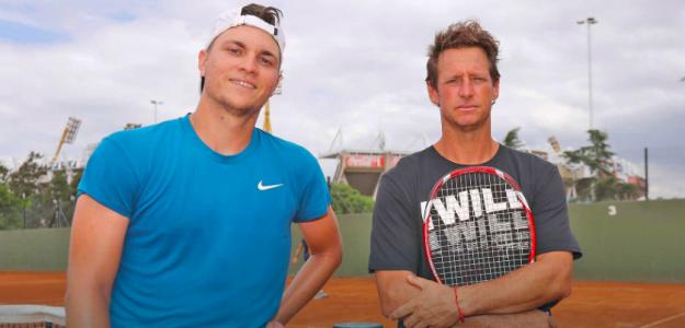 Miomir Kecmanovic y David Nalbandian. Foto: ATP