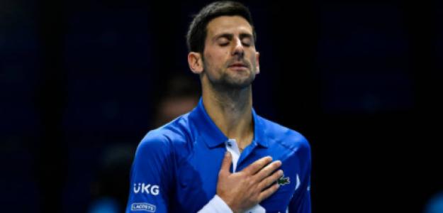 Novak Djokovic durante las ATP Finals. Fuente: Getty