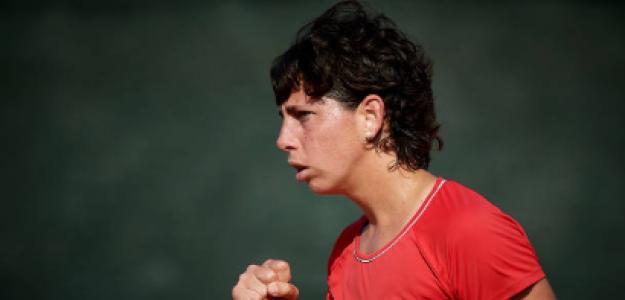 Carla Suárez y el paradigma de su retirada. Fuente: Getty