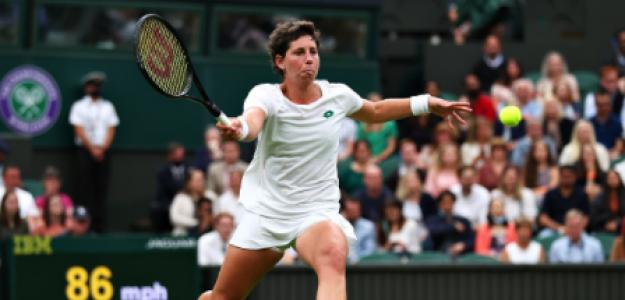Carla Suárez, despedida de Wimbledon 2021. Foto: gettyimages