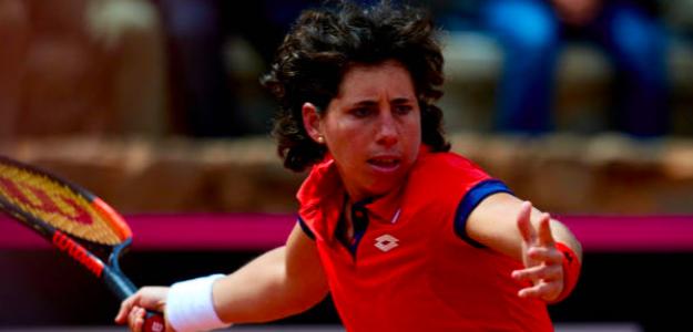 Carla Suárez no falló ante Misaki Doi. Fuente: Getty