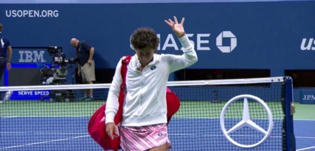 Carla Suárez se despide del US Open. Fuente: Eurosport Palyer