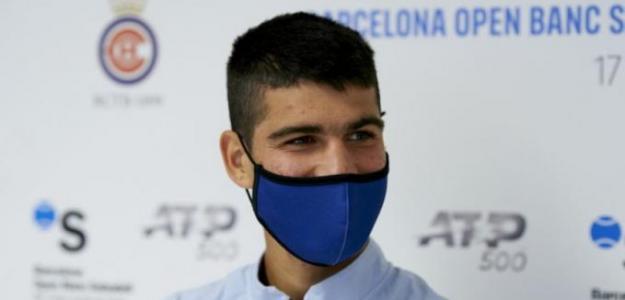 """Carlos Alcaraz: """"Intento no dar importancia a lo que los medios hablan de mí"""". Foto: BCN Godó"""