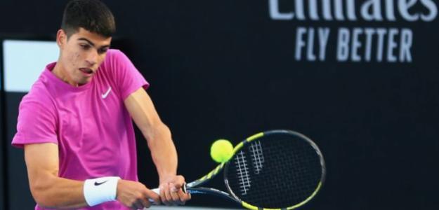 Carlos Alcaraz, ganar partidos Open de Australia 2021. Foto: gettyimages