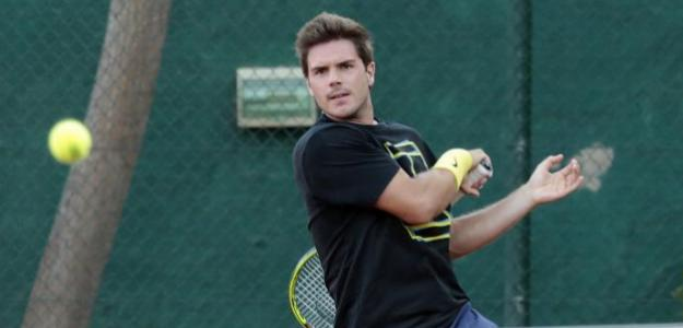 Carlos Boluda durante un entrenamiento