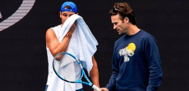 Rafael Nadal y Carlos Moyà. Foto: Getty Images