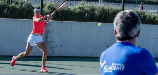 Caroline García en Rafa Nadal Academy. Foto: gettyimages
