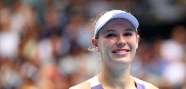 Muy emocional el final de la carrera de Caroline Wozniacki. Foto: Getty