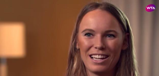 Caroline Wozniacki durante la entrevista. Fuente: Youtube